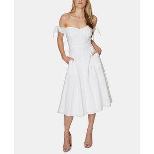 NWT Avec Les Filles Off The Shoulder Eyelet Dress